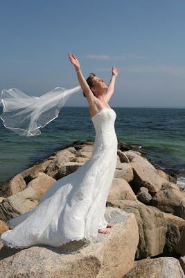 Simple is best for a summer wedding on Cape Cod.