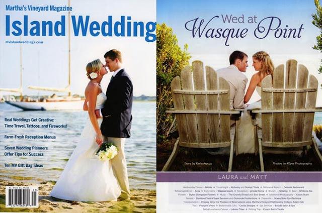 A Sayles Livingston Design Wedding Featured in Marth's Vineyard Magazine's ISLAND WEDDING!