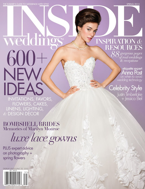 Sayles Livingston Design  is featured in the  Spring 2013 issue of Inside Weddings!!!!
