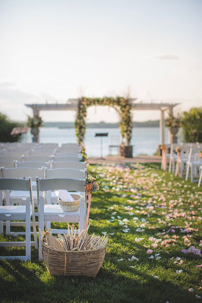 """Garden Party"" Wedding with a Color Palette of Ocean Hues at OceanCliff in Newport, RI 