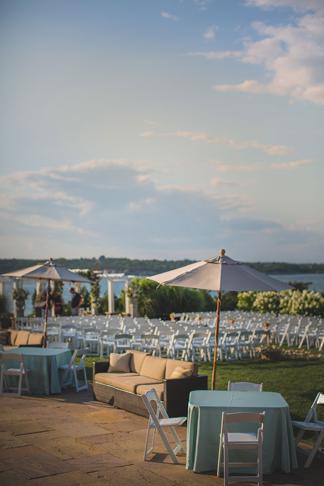 """""""Garden Party"""" Wedding with a Color Palette of Ocean Hues at OceanCliff in Newport, RI 