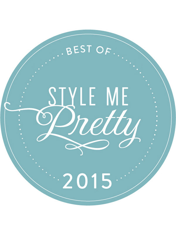 "Style Me Pretty ""Best Real Weddings of 2015"""