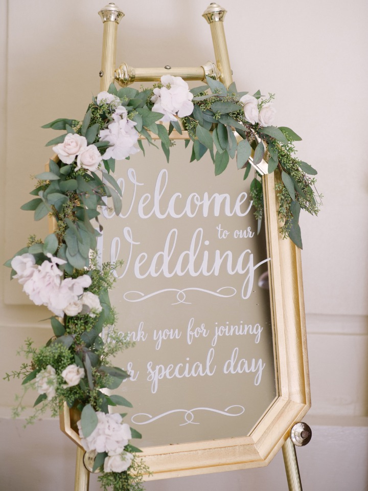 Mirror wedding sign idea