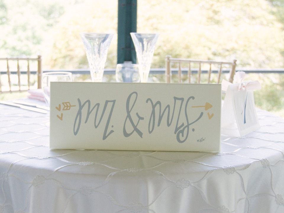 Mr. and Mrs. sweetheart table