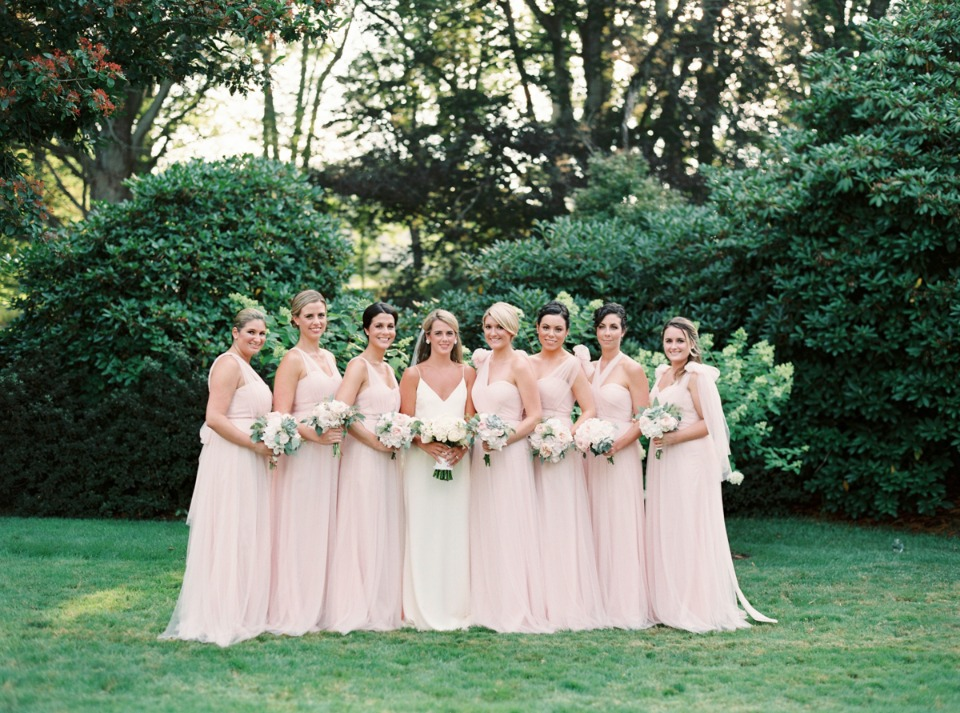 Ladies in blush