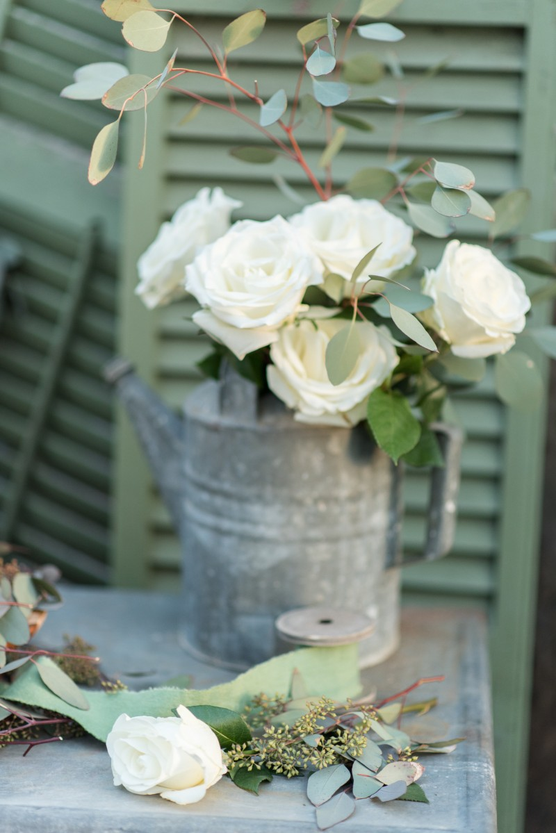 Rustic wedding design- watering can