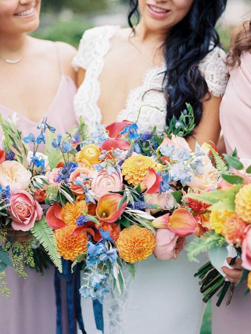 Andrea and Austin's Classic yet Colorful Newport wedding has been featured on Magnolia Rouge!