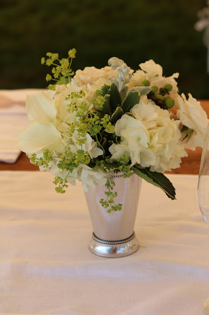 Striking and vintage flowers in whites and greens in South Dartmouth, MA