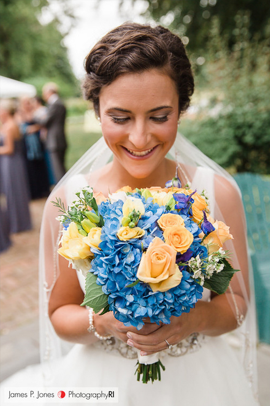 James Jones Photography! Yellow and blue wedding from Sayles Livingston Design!