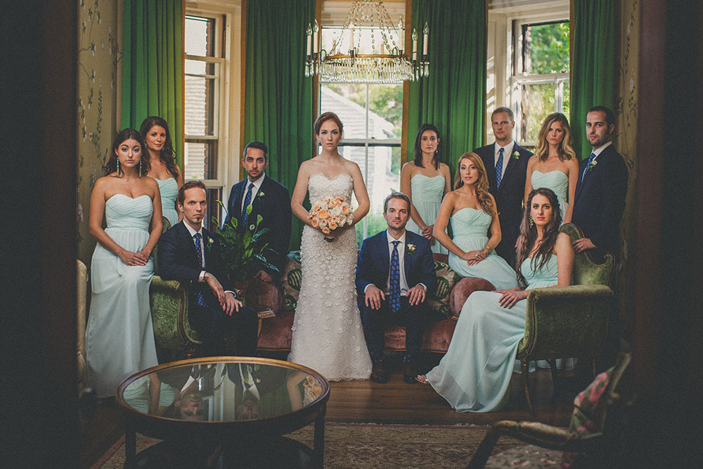 """""""Garden Party"""" Wedding with a Color Palette of Ocean Hues at OceanCliff in Newport, RI   Southern New England Weddings   Steve De Pino Photography"""