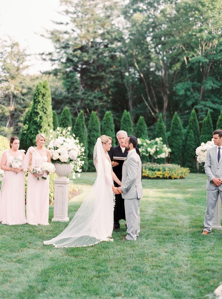 Elegant outdoor ceremony in Newport
