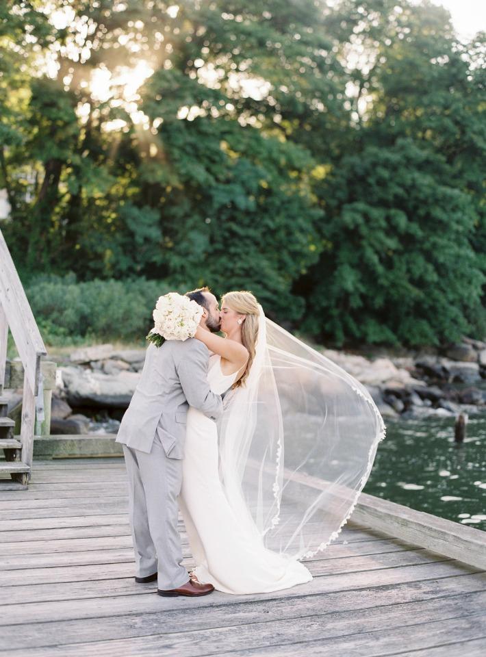 Cute wedding portrait