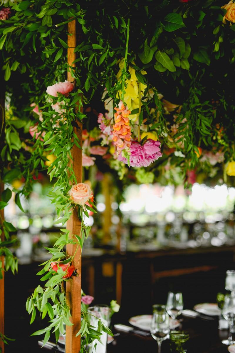 Sayles Livingston Design Hanging Centerpiece Florals